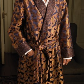 Silk Paisley Dressing Gown