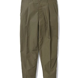 SILAS - WIDE TUCK PANTS / OLIVE