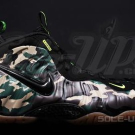 Nike - NIKE AIR FOAMPOSITE PRO GREEN CAMO