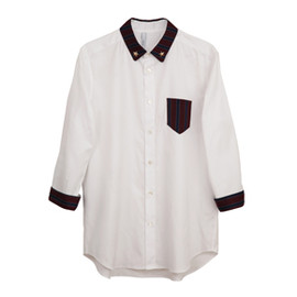 .efiLevol - Regimental Stripe Cleric Shirt