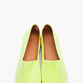 MM6 MAISON MARTIN MARGIELA - Neon yellow Slip Ons