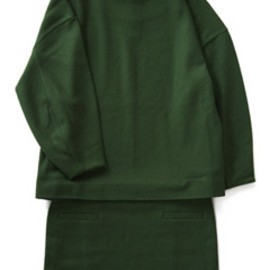 TOGA - Pressed Wool Jersey Dress (green)
