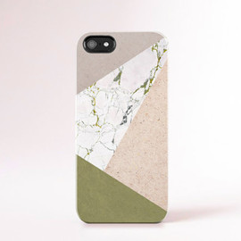 bycsera - Fall Accessories Marble iPhone 6 Case Print Marble Green iPhone 5 Case Geometric Case Khaki