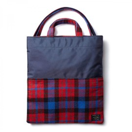"HEAD PORTER - ""LESSON"" 3WAY BAG NAVY"