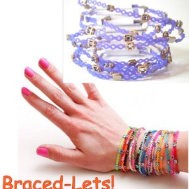 L'Etoile beaute - Braced Lets  (ブレスレッツ)   歯科矯正 ブレスレット  : 6本購入で一個プレゼント Eegplant&gold   カラー