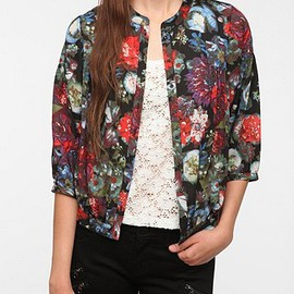 URBAN OUTFITTERS - Kimchi Blue Floral Chiffon Jacket