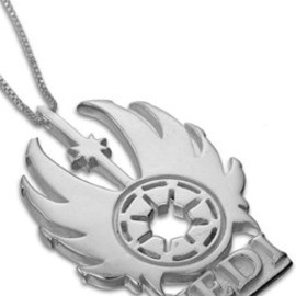 Allneedfulthings store - Jedi Knight Pendant Charm STAR WARS Sterling Silver Jewelry