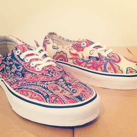 "vans * liberty - Era & Authentic ""Paisley Print"" (Fall 2013)"
