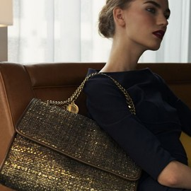 Stella McCartney - metallic tweed handbag /so chic.