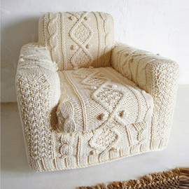 knit sofa chair