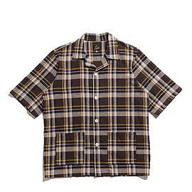 NEEDLES - Cabana Shirt-C/L Cloth/Plaid-Brown×White