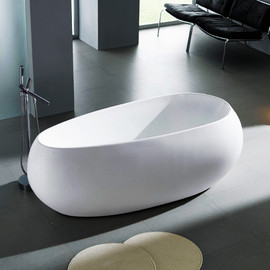 Pearl White Acrylic Freestanding Bath