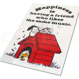 SNOOPY - SNOOPY(スヌーピー)musicクリアファイル【新品】WHITE290-001809-010+