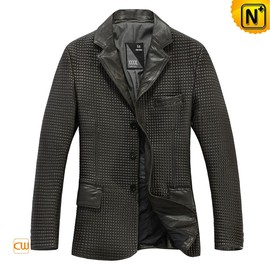 CWMALLS - Men's Genuine Leather Blazer Jacket CW874198