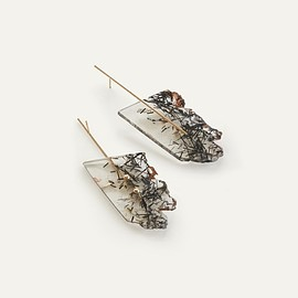 Kathleen Whitaker - Rutilated Quartz Strand Earrings