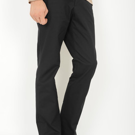 LAD MUSICIAN - NATURAL STRAIGHT FLARE PANTS  BLACK