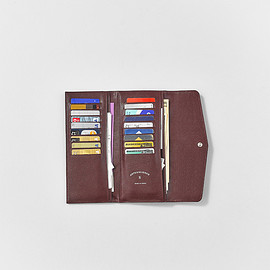 ARTS&SCIENCE - COLLECTION 2017 AW LONG HALF WALLET BURGUNDY