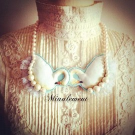 miaulemtnt - Double Swan Necklace
