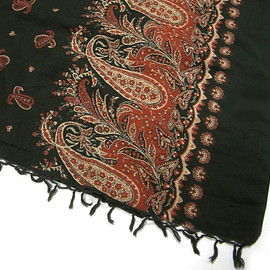 OLD JOE & Co. - 11S/S PAISLEY STOLE (INK BLACK)