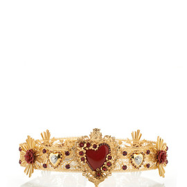 DOLCE&GABBANA - SS2015 Large Sacred Heart Gold Belt