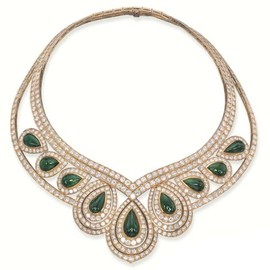 Boucheron - Emerald and Diamond 'Hortensia' Necklace
