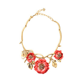 Oscar de la Renta - Painted Flower Necklace