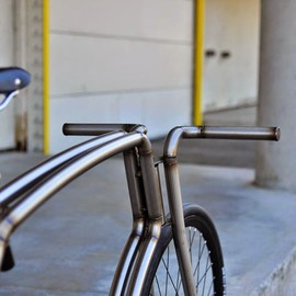 "Viks - ""Raw"" STEEL URBAN BICYCLE"