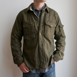 Engineered Garments - CPO SHIRT-WOOL FLANNEL (olive)