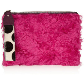 HOUSE OF HOLLAND - The Bag Of Tricks shearling and calf hair clutch