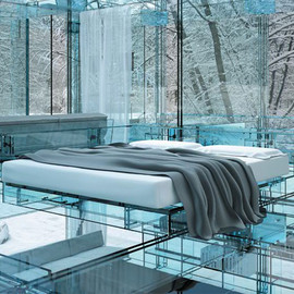 Santambrogio Architects - Bedroom within the Glass House