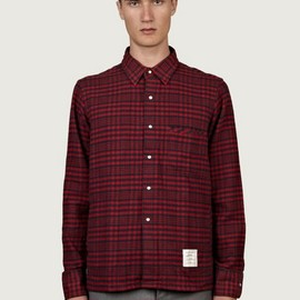 Thom Browne - Men's Long-Sleeve Gingham Flannel Work Shirt