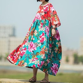Maxi dress boho - maxi dress summer, maxi dress cotton, Women summer dress, floral maxi dress