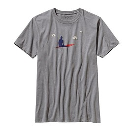patagonia - Men's Polar Lineup Cotton/Poly T-Shirt - Feather Grey