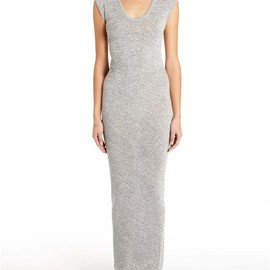 Alexander Wang - Marled Draped Back Muscle Dress Thumb