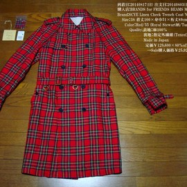 SCYE - Linen Check Trench Coat NO.1111-71037