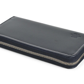 Whitehouse Cox - S2622 Long Zip Wallet-Holidayline-Black×Red