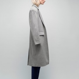 BISOU Pour Won Hundred - A grey boyish wool coat