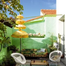 Colourful patio, Marie Claire