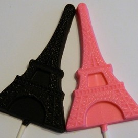 12 Eiffel Tower Chocolate Lollipops Wedding Birthday Party Favors