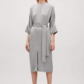 COS - Kimono-sleeve belted dress in Grey