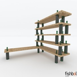 fishbol/fishtnk - Wine Bottle shelf