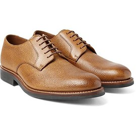 Grenson - Liam Pebble-Grain Leather Derby Shoes
