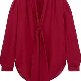 Maiyet - Elipse pussy-bow silk crepe de chine blouse
