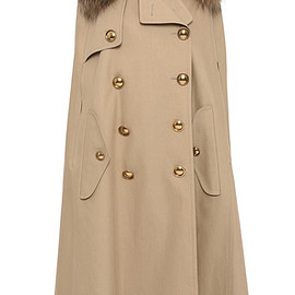 BURBERRY - FW2016 Trench Cape With Raccoon Collar
