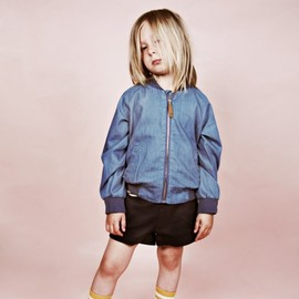 mini rodini - DENIM BASEBALL JKT
