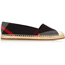 Burberry - Checked canvas espadrilles