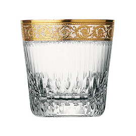 saint-louis - thistle gold old fashioned tumbler