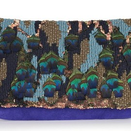 Matthew Williamson - Appliqued Suede Clutch