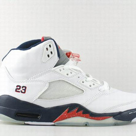 Nike Air Jordan V 5 Retro White Obsidian Mens Shoes