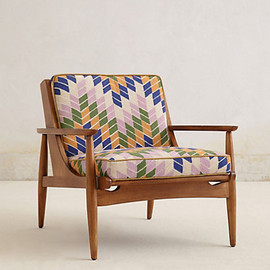 Anthropologie - Hanne Checked Armchair